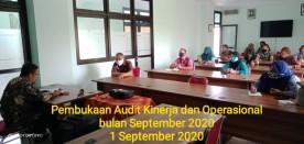 Pembukaan Audit Operasional dan Kinerja September 2020