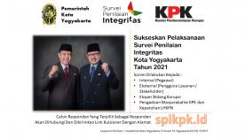 Ayo Sukseskan Survei Penilaian Integritas Pemerintah Kota Yogyakarta Tahun 2021