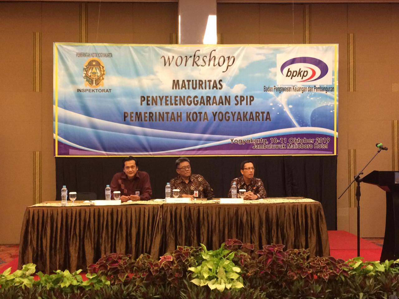 Pembukaan Workshop Maturitas SPIP Tahun 2019